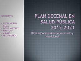 Plan Decenal en Salud Pública 2012-2021
