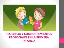 resilencia y comportamientos prosociales en la primera infancia