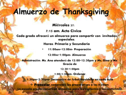 Almuerzo de Thanksgiving