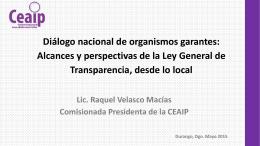 Lic. Raquel Velasco Macías