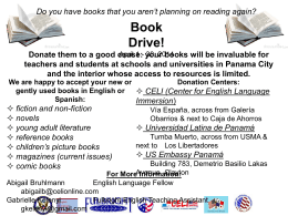 Book Drive!