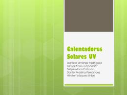 Calentadores Solares UV