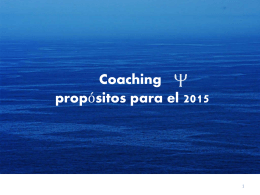 propósitos coaching para el 2015