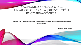 diagnostico pedagogico cap 3°