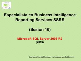 Clase 16 BI MSQL Server 2008 Reporting Services
