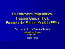 Historia Clínica (HC) - 7mo Semestre UCIMED II-2012
