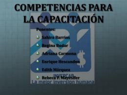 competencias para la capacitación