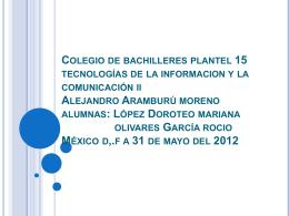 Colegio de bachilleres plantel 15 tecnologías de la informacion y la
