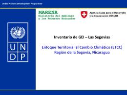 Inventario de GEI – Las Segovias