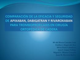 COMPARACIÓN DE LA EFICACIA Y SEGURIDAD DE APIXABAN