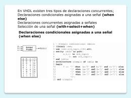 diseño combinacional vhdl