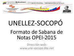 UNELLEZ-SOCOPÓ - unellez socopo