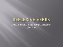 Reflexive Verbs - Spanish 2 Final Exam Review