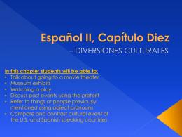 Español I, Capítulo Dos