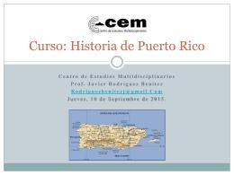 Curso de Historia de Puerto Rico Fall 2015