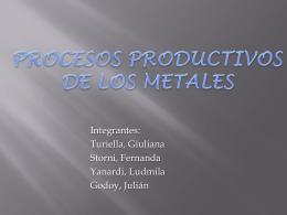 Procesos productivos Metales - 4055-T91-GRUPO6
