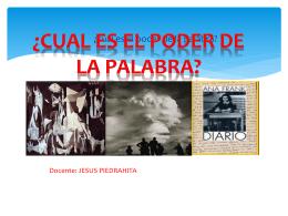 EL PODER DE LA PALABRA PROYECTO