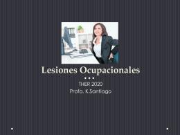 Lesiones Ocupacionales