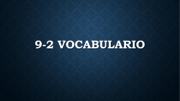 9-2 Vocabulario Mandar invitaciones - Hurlbert-CHS
