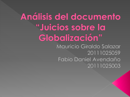 """Análisis del documento """"Juicios sobre la Globalización"""""""