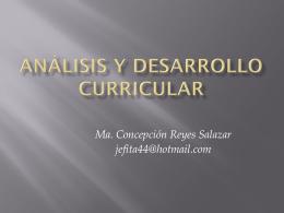 Análisis y desarrollo curricularfinal