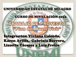 proyecto viv (Plan del Buen Vivir)i