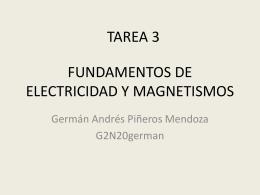 FUNDAMENTOS DE ELECTRICIDAD Y MAGNETISMOS