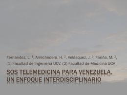 SOS Telemedicina para Venezuela. Un enfoque interdisciplinario