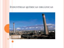 Industrias químicas orgánicas