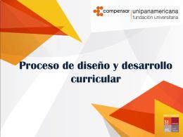 Comités Curriculares - diseño y desarrollo curricular