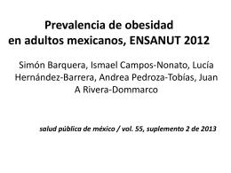 Prevalencia de obesidad ENSANUT 2012