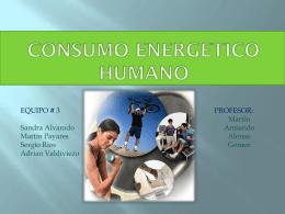 CONSUMO ENERGETICO HUMANO