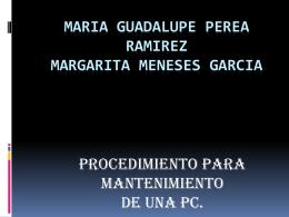 MARIA GUADALUPE PEREA RAMIREZ MARGARITA MENESES