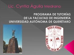 Lic. Cyntia Gpe Águila Medrano
