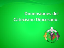 Dimensiones del Catecismo Diocesano.