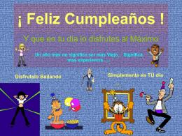 Feliz Cumpleaños ! - PresentacionesWeb