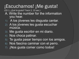¡Escuchamos! ¡A describir! (CD 1, ¡A describir!,