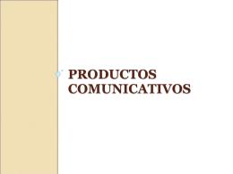 Productos Comunicativos - Bitácora con información
