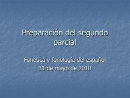 Preparación del segundo parcial
