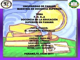 UNIVERSIDAD DE PANAMÁ VICERRECTORIA DE