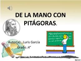 De la mano con Pitágoras.
