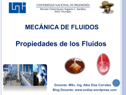 Mecánica de Fluidos - MSc. Alba Veranay Díaz