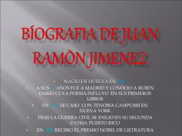 BÍOGRAFIA DE JUAN RAMÒN JIMENEZ