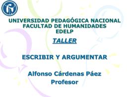 UNIVERSIDAD PEDAGÓGICA NACIONAL FACULTAD DE