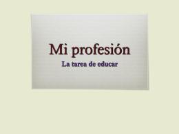 Mi profesión - Centro de Profesores de Cuenca