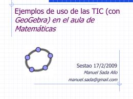 Geometría con Cabri en las aulas