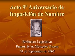 Acto 9º Aniversario de Imposición de Nombre