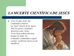 LA MUERTE CIENTÍFICA DE JESÚS