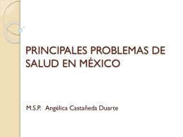 PRINCIPALES PROBLEMAS DE SALUD EN MÉXICO