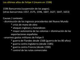 Los últimos años de Felipe II 1596 Bancarrota